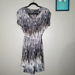 Express Gray Brown V-Neck Night Out Dress Tunic